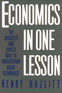 Economics in one lesson hazlitt